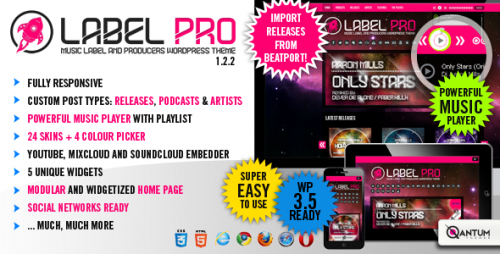 LabelPro - Responsive Music Theme