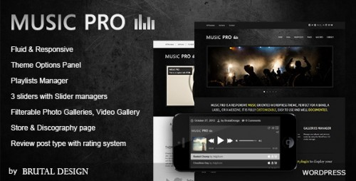 Music Pro - Music Oriented WP Theme