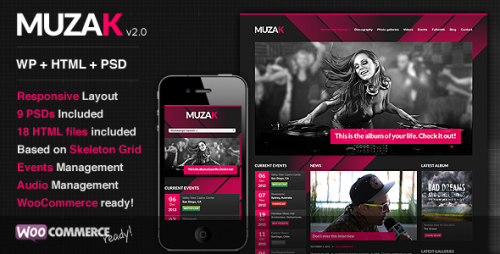 Muzak - Music Premium Theme