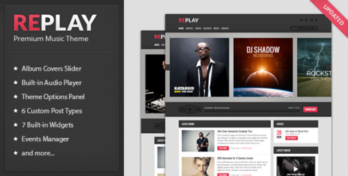Replay - Responsive Music WP Theme