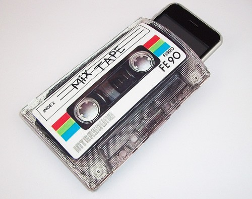 Retro Mix Cassette Tape Gadget Case