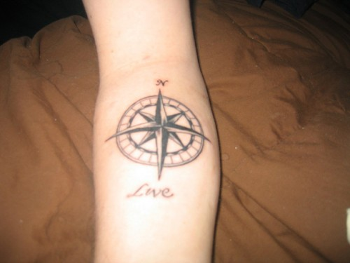 Compass Tattoo Style for Guys