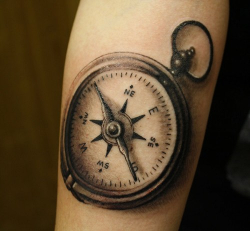 Compass Tattoo on Arm
