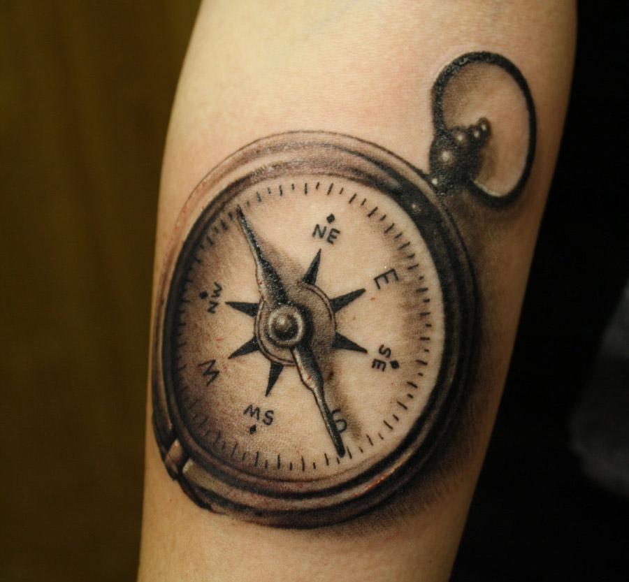 A Showcase Of Usually Compass Tattoo Designs