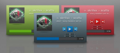 Cool Music Player PSD