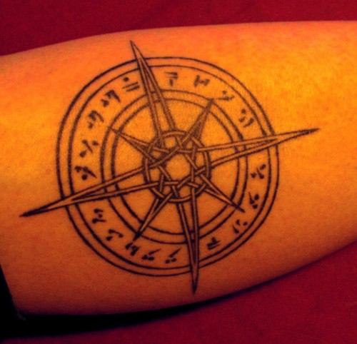 Skyrim Compass Tattoo