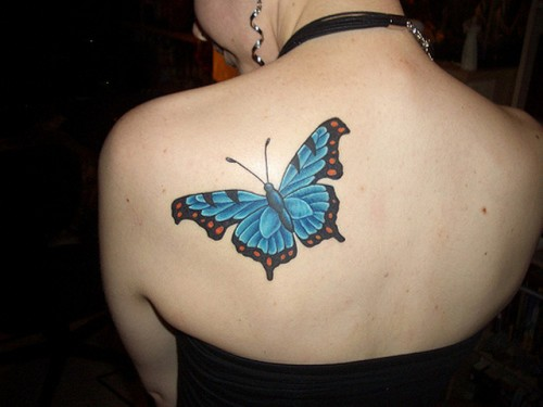Back Butterfly Tattoo Ideas