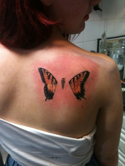 Brand New Eyes Butterfly Tattoo