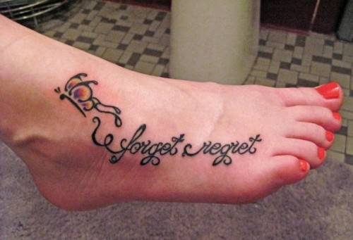 Forget Regret Tattoos