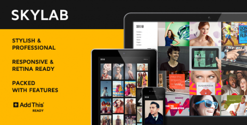 Skylab Portfolio - Photography WordPress Theme