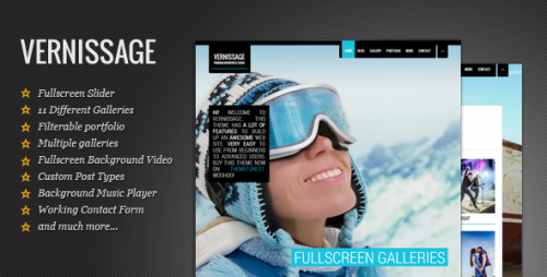 Vernissage: Responsive Portfolio Theme