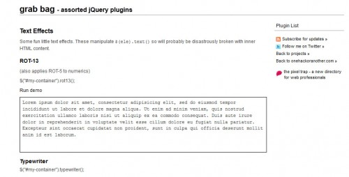 jQuery Grab Bag