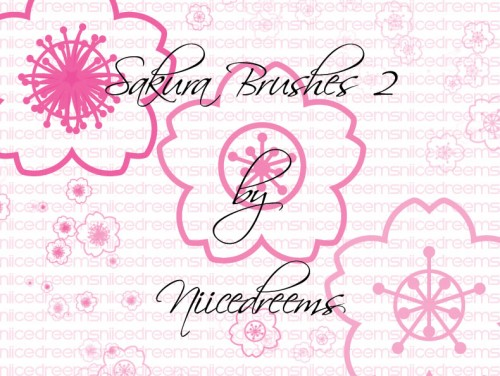 6 Sakura Brush Set