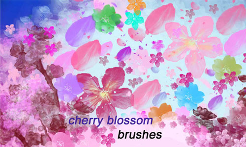Cool Cherry Blossom Brushes