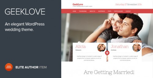 GeekLove - Responsive WP Wedding Theme