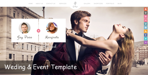 Gittys - Responsive Wedding WP Theme