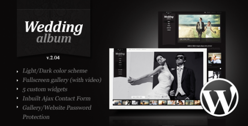 Wedding Album Premium WP Theme