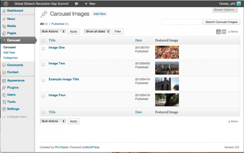 CPT Bootstrap Carousel