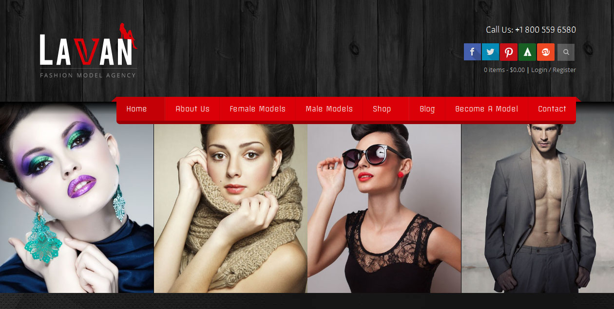 Lavan WordPress theme