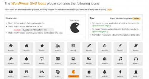 WordPress Icons - SVG