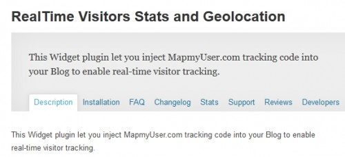 RealTime Visitors Stats and Geolocation