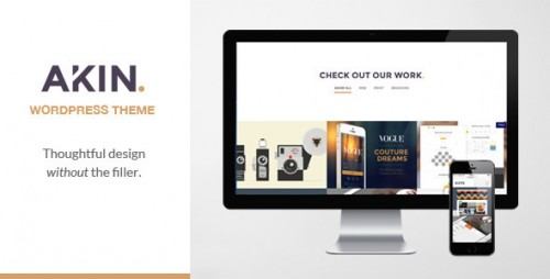 Akin - One Page Responsive WordPress Theme
