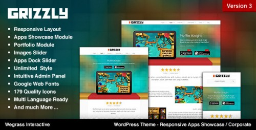 Grizzly - Responsive App Showcase Corporate Theme