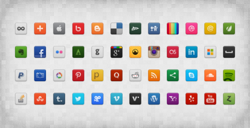 Social Media Icon Psd File