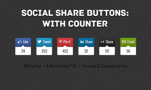 Social Share Buttons With Counter