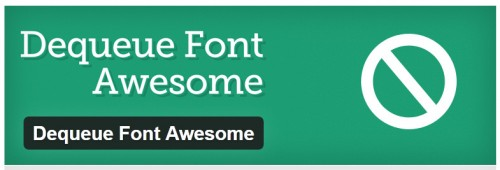 Dequeue Font Awesome