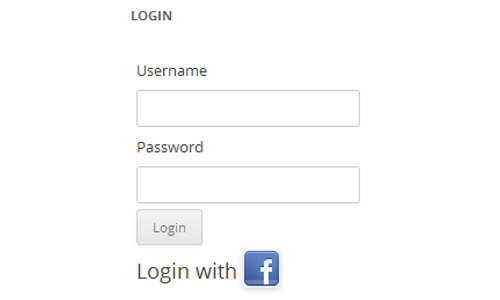 Facebook Login Widget