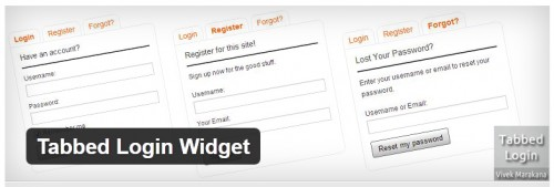 Tabbed Login Widget