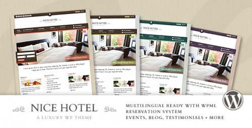 Nice Hotel - WordPress Premium Theme