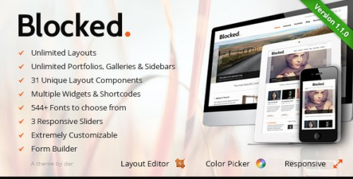Blocked - Responsive WordPress Theme