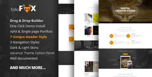 Folio Fox - One page Multi Purpose Theme