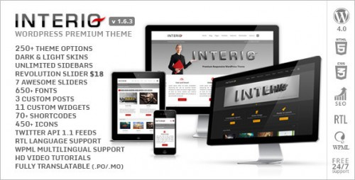 Interio - Responsive Multipurpose WordPress Theme