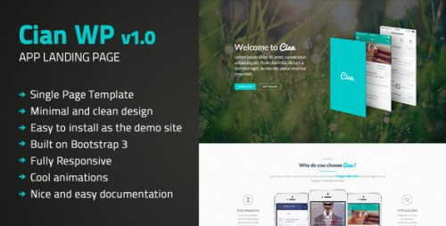Cian - App Landing Page WordPress Theme