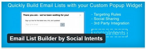 Email List Builder by Social Intents