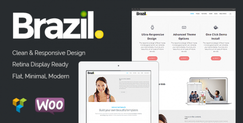 Brazil - WordPress Pinterest Style Theme