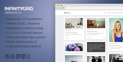 InfinityGrid - An Infinite Scrolling - Personal Blogging Theme