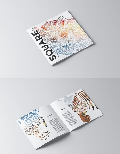 Amazing Square Brochure Design