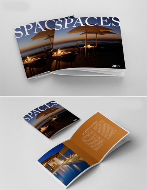 Photorealistic Square Brochure Trend