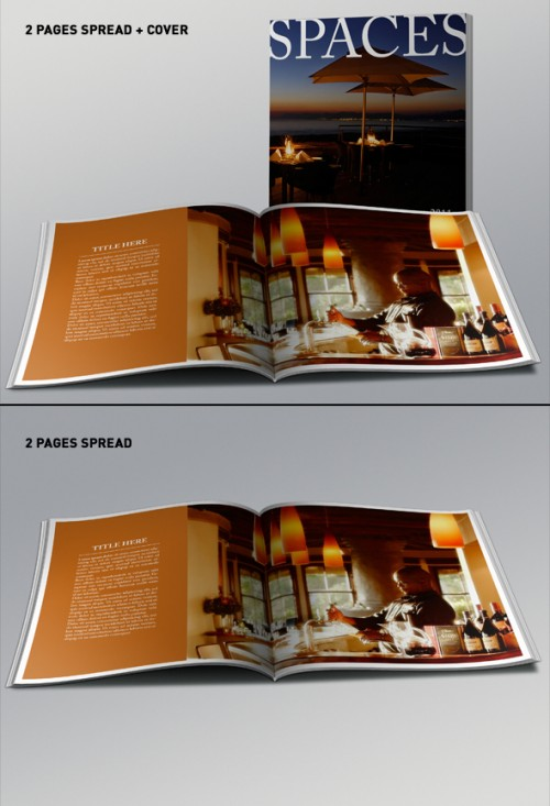 Realistic Square Brochure Design