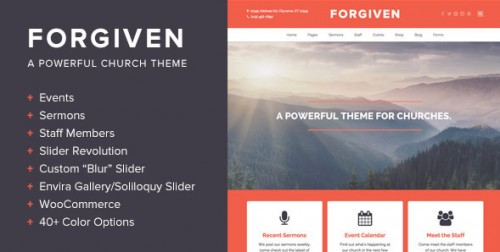 Forgiven - A WordPress Theme for Churches