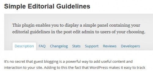 Simple Editorial Guidelines