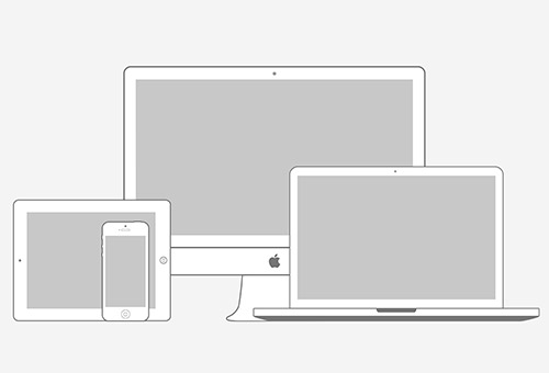 Apple Products Minimal Wireframe Kit