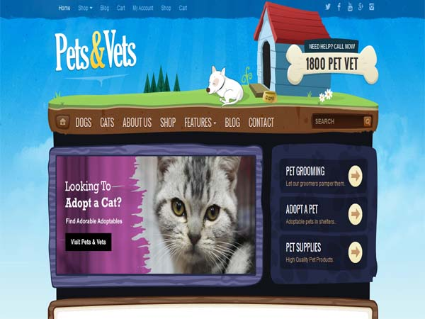 Pets & Vets - Top WP Theme